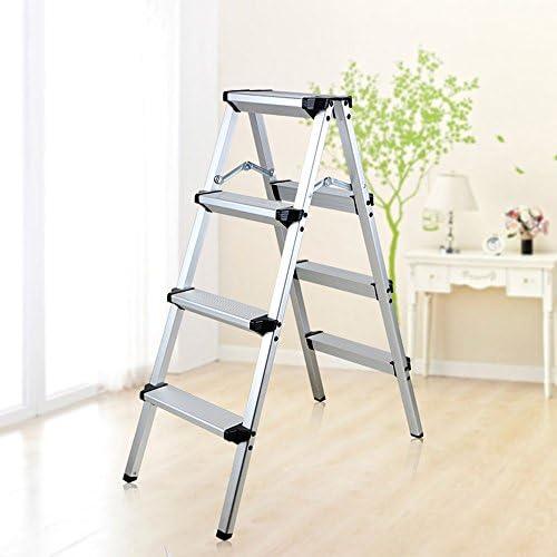 QFFL tideng Schritt-Schemel-Haushalts-Aluminiumlegierung-faltende Leiter-im Freienschritt-Schemel-Multifunktionsschritt-Schemel (Farbe   A, Größe   79  40  97CM)