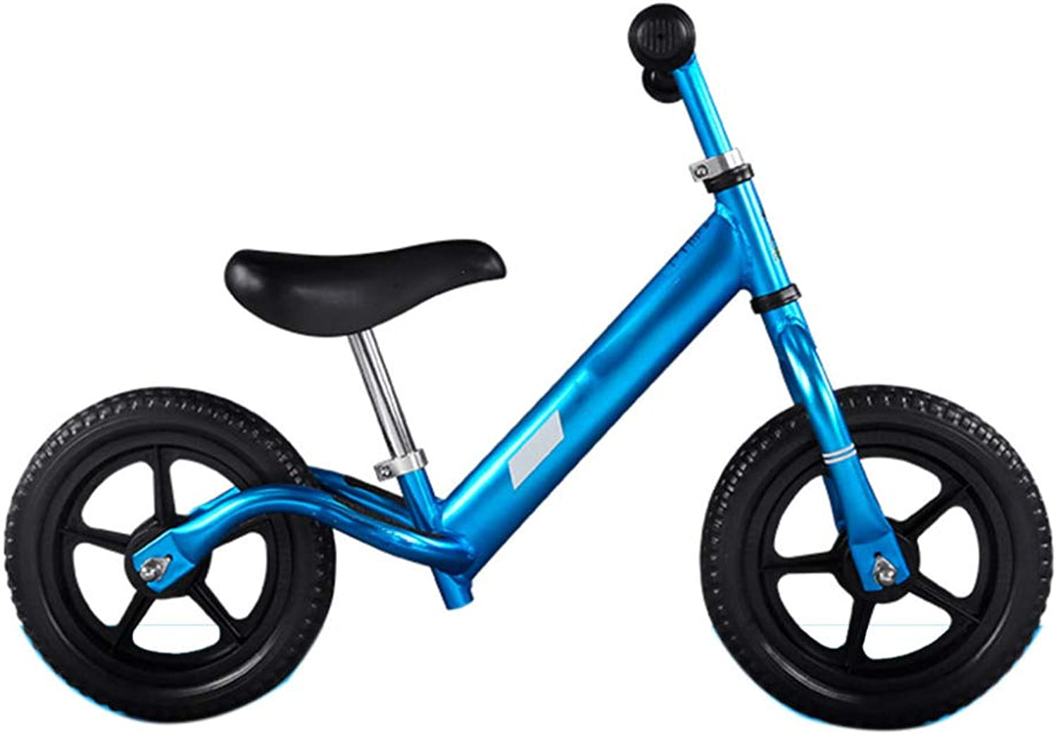 GSDZSY - 12 Inch Balance Bike No Pedal For 2-6 Years,Aluminum Alloy Frame, Adjustable Handlebar, With Steering Limiter, EVA Inflatable Rubber Wheel,blueeEVA