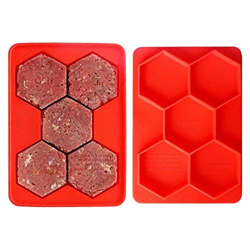 MUZIYU Pressa in Silicone e Freezer, Contenitore per alimenti, 5 in 1 per salsicce-Patty Patties, Hash colore marrone