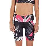 Zoot Equipo de triatlón Femenino de Estilo de Pantalones de 8 Pulgadas con Acolchado de Asiento en 2D, Bolsillos Laterales, SPF 50+ y Costuras Seamlink Tamaño XL