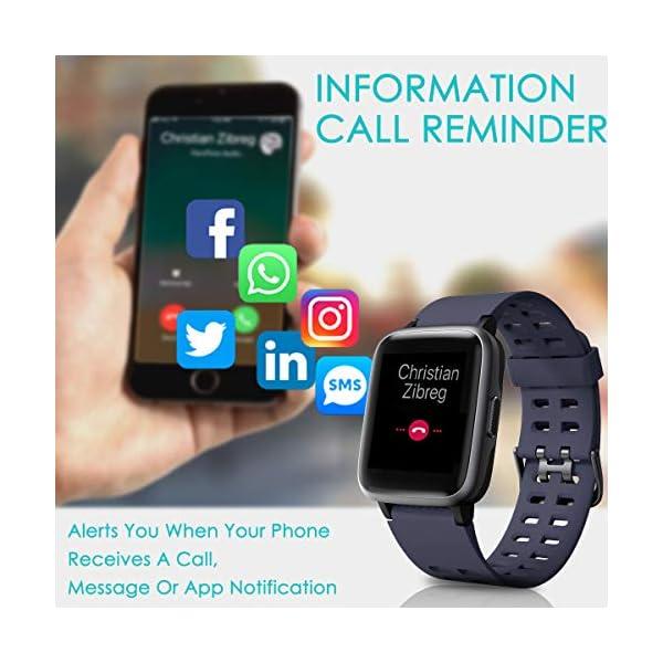 HOMVILLA Pulsera Actividad, Fitness Tracker, Reloj Inteligente Impermeable IP68 con Pulsómetro Monitor de sueño Pulsera… 4