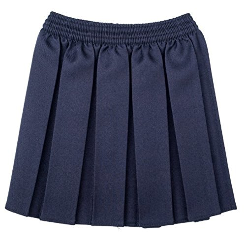 Uniforme scolastica per ragazze, gonna plissettata elasticizzata, taglia dai 2 ai 17 anni Navy 6-7 Anni