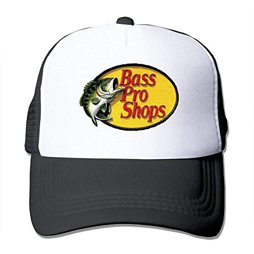JINHBYV Unisex Bass PRO Shops Logo Classic Mesh Back Trucker cap Hat Black