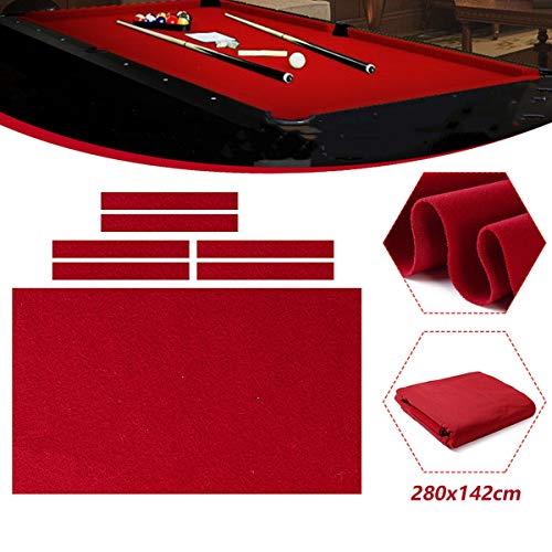 TOPWA Professionele Biljart Zwembad Tafel Doek 9 Voet Zwembad Tafel Vilt 6 Vilt Strips Accessoires Biljart Snooker Doek Vilt