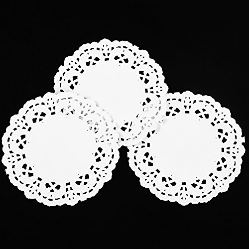 Round Paper Lace Doilies 3.5 Inch Pack Of 250 Pcs by CHICIEVE
