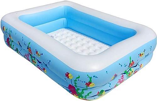 Xingguang Piscine Gonflable familiale, Vert épais, Piscine en PVC pour bébé, pataugeoire pour bébé, Piscine Gonflable, Baignoire pour bébé, Bleu, 115  88  33 cm