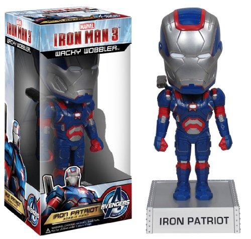 Marvel Homem de Ferro 3 - Boneco Funko Wacky Iron Man Patriot 15cms