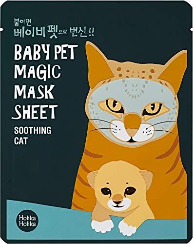 Holika Holika - Mascarilla Baby Pet 22 ml - Magic Mask Sheet - Cat - 1 unidad