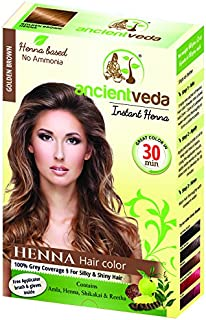 Ancient Veda Henna Hair Color Golden Brown (60 g / 2.11 oz) (GOLDEN BROWN)