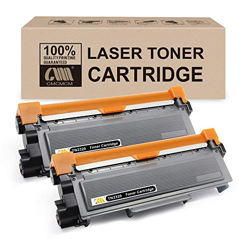 CMCMCM 2PK Cartucho de tóner compatible Para Brother TN2320 Compatible Con MFC-L2700DN MFC-L2700DW MFC-L2720DW HL-L2300D HL-L2340DW HL-L2365DW DCP-L2500D DCP-L2520DW DCP-L2540DN DCP-L2560DW
