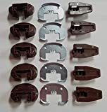 Kenlin Lot of 5 Sets of Enhanced Commercial Style Kenlin Rite-Trak II Model #168 (Drawer Stop with no Roller)