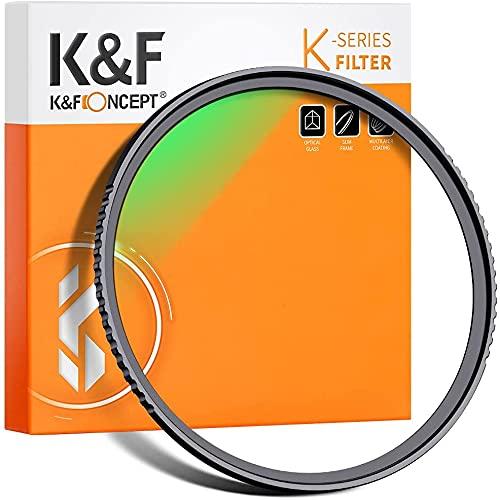 K&F Concept Filtre UV MC Filtre de Protection Ø58mm Multi-Couches avec Revêtement Bleu pour Objectif Appareil Photo Canon Nikon Sony Olympus Pentax Fujifilm Leica