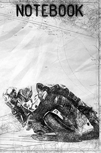 Notebook: Moto GP blank notebook, Motorbike journal perfect for Motorsport fan, 6x9