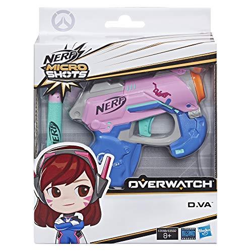 NERF - Nerf MicroShots Overwatch von VA und Fléchettes Nerf offiziell 1, Klassiker-Blaster im Mikroformat