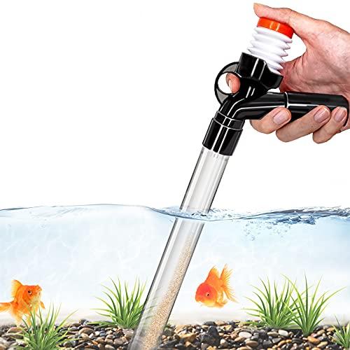 Aquarium Gravel Cleaner Fish Tank Kit Long Nozzle Water Changer for Water...