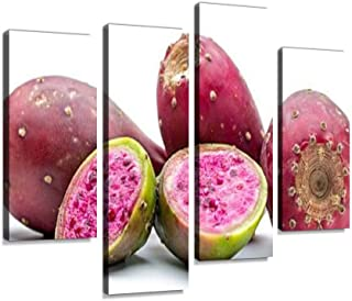YKing1 Prickly pear Opuntia Cactus Edible Fruit Prickly Pears and Pictures Wall Art Painting Pictures Print On Canvas Stretched & Framed Artworks Modern Hanging Posters Home Decor 4PANEL