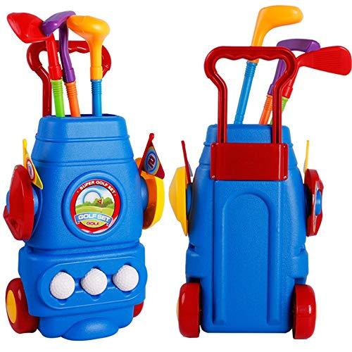 Liuxiaomiao Golf Toys Toy Life Kinder Golfschläger Kleinkind Golf Set Sport Spielzeug für drinnen und draußen für Kinder Indoor Outdoor Spiel, Plastik, blau, Free Size