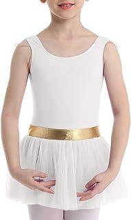 MSemis Vestido Tutú de Danza Ballet para Niñas Maillot Patinaje Artístico Clásico Leotardo Body Baile Algodón Suave Ropa Bailarina Rentimianto