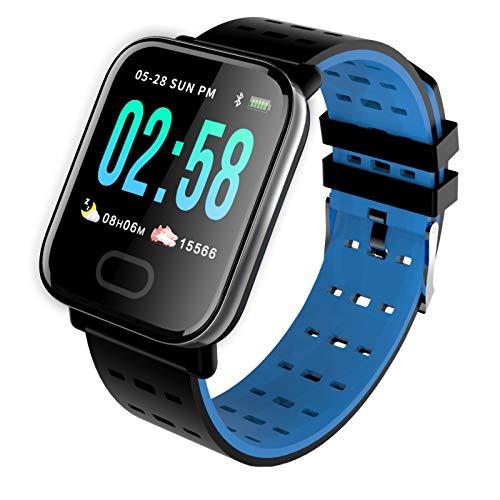 Homeriy Pulsera Inteligente 1. Reloj Inteligente con Pantalla Táctil de 3 Pulgadas Ip67 Dispositivo de Seguimiento de Actividad Inteligente Mediciones de Frecuencia Cardíaca para Mujeres