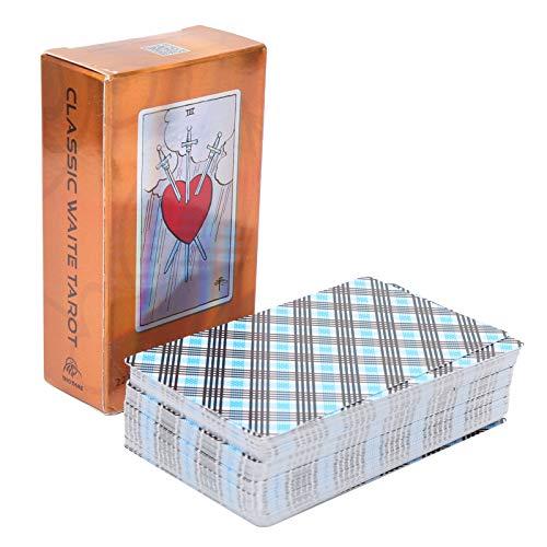 Junlucki Baraja de Cartas del Tarot | Tarjeta de Adivinación del Destino | Tarot de PrediccióN de la Fortuna Juego de Cartas de Mesa de Destino para Reuniones Familiares/Bares/Fiestas Navideñas