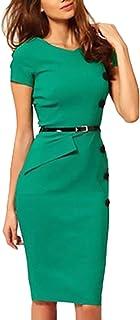 new style 0dc4c 7f1c7 Amazon.it: tubino elegante - Verde