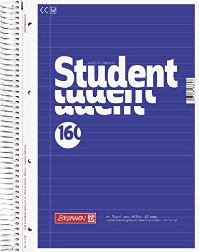 Brunnen 1067981 Notizblock / Collegeblock Student (A4, liniert 70 g/m², 160 Blatt)
