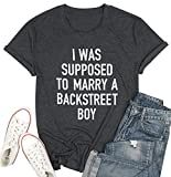 Backstreet Boy Shirt Women Country Music T-Shirts Funny Letters Print Short Sleeve Tops Graphic Tees Gray
