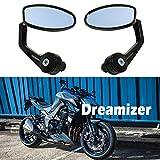 """DREAMIZER 7/8"""" 22mm Specchietti Moto Manubrio, Moto Specchietti Laterali per Z1000 Z750 MT03 MT09 FZ6 SV650 SV1000 CB1000R CBF125 Monster M696 821"""