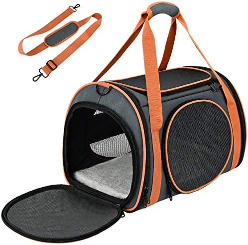 OKMEE Cat Carrier TSA Airline Approved with Ventilation for Small Medium Cats Dogs Puppies Dog product image