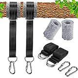 GothicBride - Correas para hamaca al aire libre, kit de 150 cm de largo para colgar en árbol, incluye 2 ganchos de mosquetón con bloqueo de seguridad y alta resistencia para acampada, mochileros.