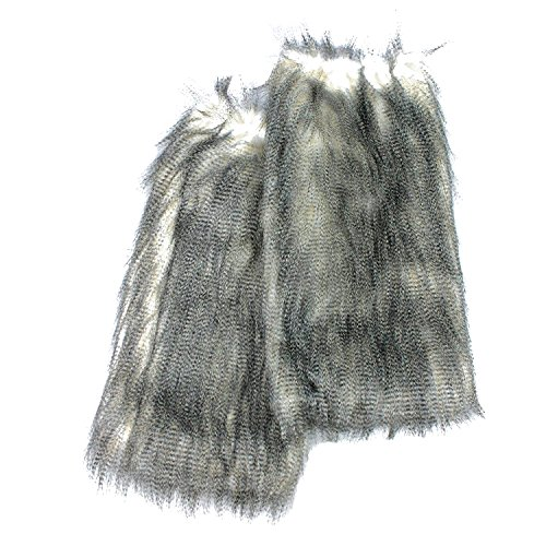 Irregular Choice - Scaldamuscoli per gambe in finta pelliccia Long Fur Warm Snow Leopard