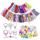 35 Pezzi Di Vestiti Accessori Di Gioielli Per Bambola Barbie, Compresi Vestiti Di Moda Abiti Abiti Scarpe Collana Diademi , Articoli Per Feste Barbie
