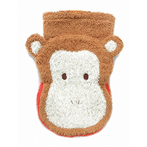 Furnis 559B Organic Cotton Washcloth Hand Puppet, Monkey, Large (Adult Size)