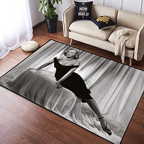 Coobal Marilyn Monroe - Alfombra grande para suelo de yoga, sala de estar, para niños, sala de juegos, dormitorio, 3 x 5 pies (90 x 150 cm)
