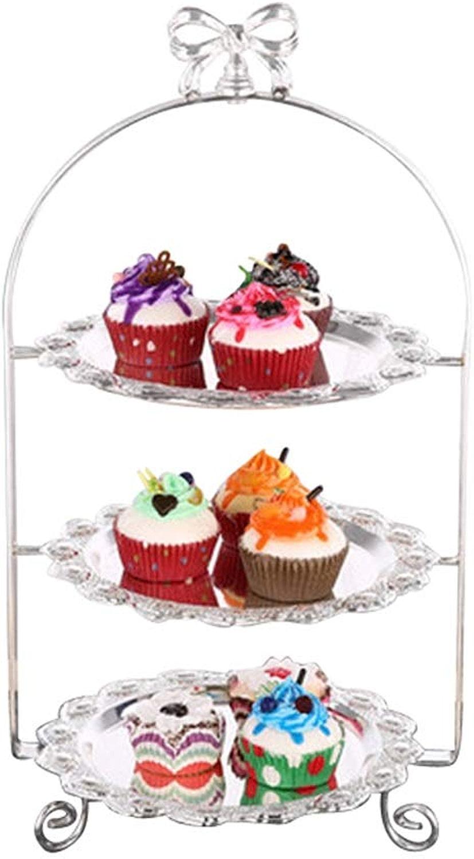 XMGJV Plateau de fête couche, 2 couches, 3 couches de supports de gateau, fête créative, tour de gateau, présentoir de dessert de fruits, décoration de mariage, plateau de dessert (Couleur   A)