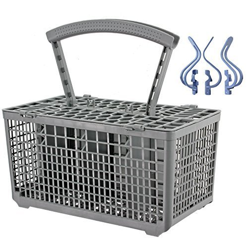 Universal Panier A Couvert Lave-vaisselle Cage + Bouteille Gourde Bébé Clips En Plastique (235 x 242 x 130 mm + Poignée Amovible)