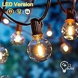 OxyLED Guirnaldas luminosas de exterior,[LED Versión]G40 7,62Metros 12 bombillas Luces de la secuencia del jardín al aire libre,Decorative String Luces de patio,Garden Luces de patio de Navidad
