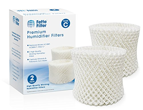 Fette Filter - Humidifier Wicking Filters Compatible with Honeywell HC-888, HC-888N, Filter C. (Pack of 2)