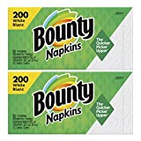 Paper Napkins, White or Printed, 200 Count (2 Packs = 400 Napkins)(12.5 x 12 x 6 inches)