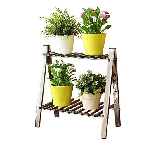 Stand de fleurs Xin Jardin Étagère Rack De Stockage Acier Inoxydable Atterrissage Trapézoïdale Salon Balcon Cadre d'angle