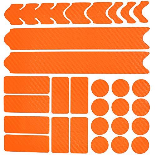 AlphaShield Fahrrad Rahmenschutz Kettenstreben Schutz Folie Aufkleber Rahmen Schutz Carbon MTB BMX Lackschutz Folie K099 K100 (Carbon Orange)