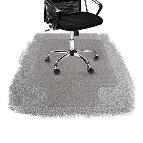 "Office Chair Mat for Carpeted Floors | Desk Chair Mat for Carpet | Clear PVC Mat in Different Thicknesses and Sizes for Every Pile Type | Low-Pile 48""x52"" with Lip"