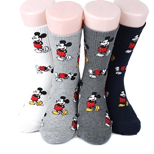 Disney Icon Sneakers Women's Socks 4 pairs Made in Korea