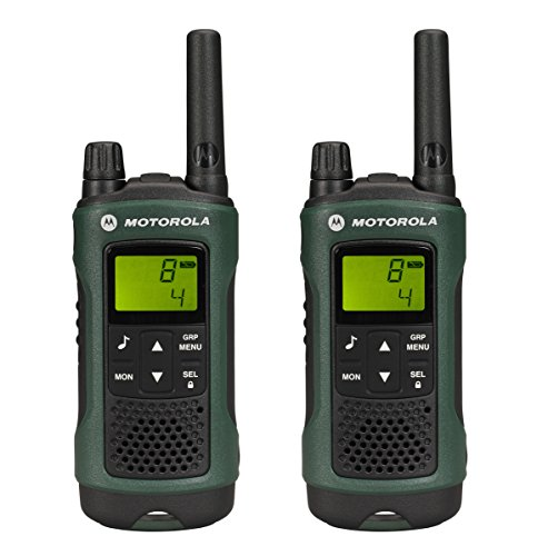 Motorola Hunter Duo - Kit de 2 walkie-talkies (alcance de 10 km, 968 canales), negro