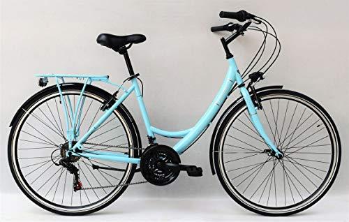28 Zoll Damen City Fahrrad CITYFAHRRAD DAMENFAHRRAD CITYRAD DAMENRAD Rad Bike Beleuchtung Shimano 18 Gang Balmoral Lady Türkis Blau