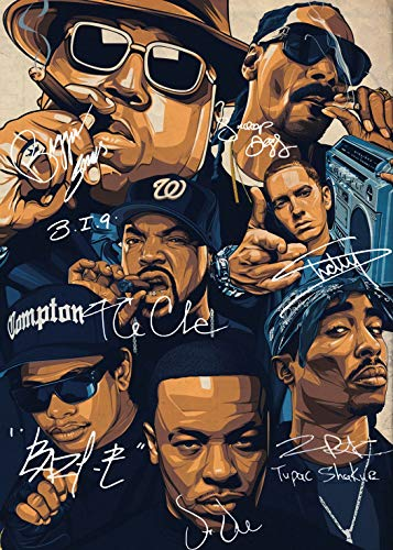 Houheiiy West Coast Rappers Poster 24' x 36' Cool Wall Art Gifts Decor