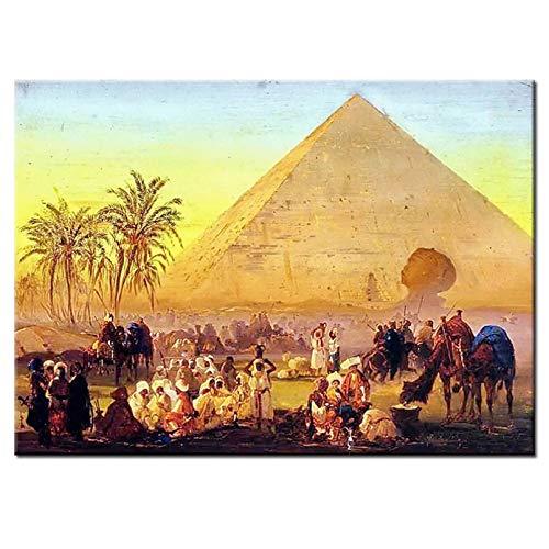 KKMMZ Diamante Bordado Egipto pirámide 5D DIY Pintura Cuadrado Completo Taladro Redondo Diamantes de imitación Imagen Suprema...