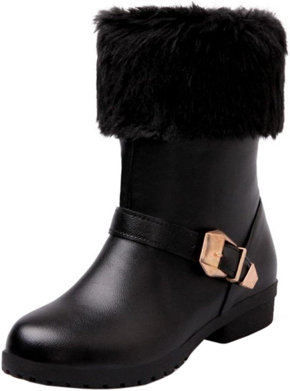 AicciAizzi Women Comfort Low Booties Warm Winter Boots Pull On