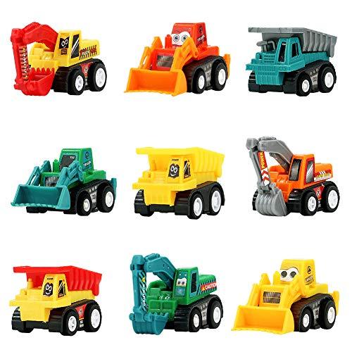 Symiu Macchina Giocattolo Macchinine Set Veicoli Mini Camion Escavatore Bulldozer Dumper Ruspa Giocattolo 9  Pezzi per Bambini 3 4 5