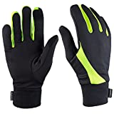 TrailHeads Running Gloves | Lightweight Gloves with Touchscreen Fingers - Black/hi-vis (Small)